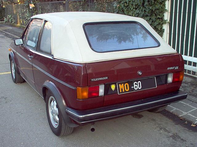 VW Golf GL Cabrio - 1983
