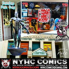 #SundayFunDay Couldn't Get Any Better New York Hard Core Comics In Both Spots Today! From The Shop In Dobbs Ferry, To Undiscovered Realm Comic Con In White Plains, Comic Books Done Right! Westchesters Finest!  OPEN 11AM-5PM  NYHC COMICS 115 MAIN ST. DOBBS