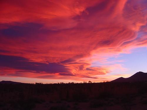 sunset clouds inyokern