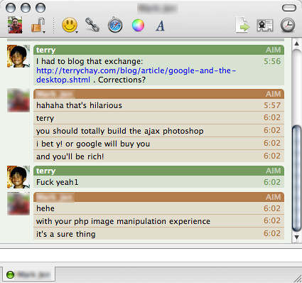 My latest chat session - Blogged in The Woodwork: Google and… - Flickr