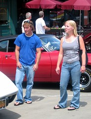 couple at car show