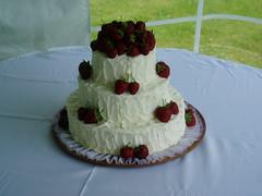 flower(0.0), sugar paste(0.0), wedding ceremony supply(1.0), cake(1.0), buttercream(1.0), whipped cream(1.0), produce(1.0), food(1.0), cake decorating(1.0), icing(1.0), birthday cake(1.0), torte(1.0), pasteles(1.0), wedding cake(1.0),