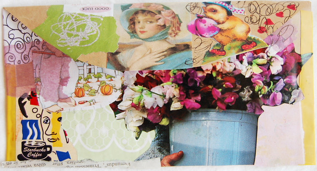 Envelope with collage