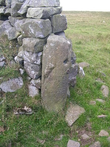 Milestone serving as a gatepost