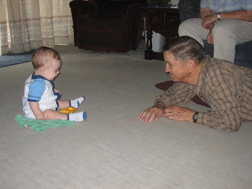 Walker and Dandy on the floor