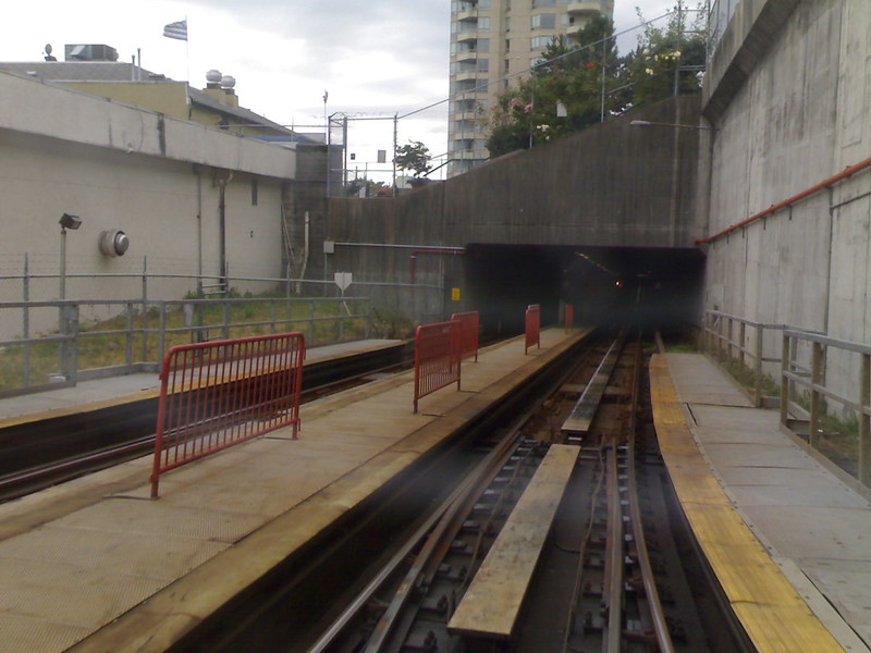 SkyTrain Enters Columbia Station