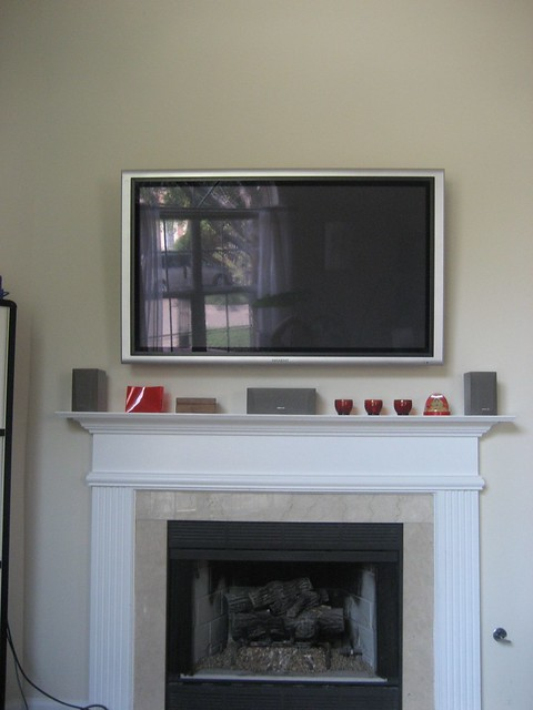 plasma tv above the fireplace flickr photo sharing