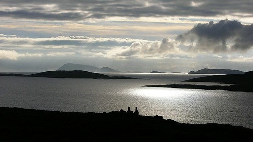 ireland sunset sea silhouette clouds bay eire bearapeninsula coulaghbay