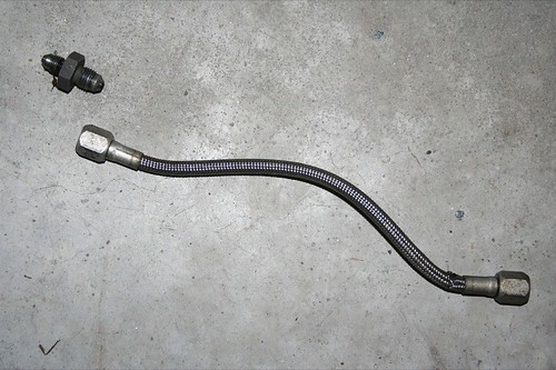 Old brake line and adapter