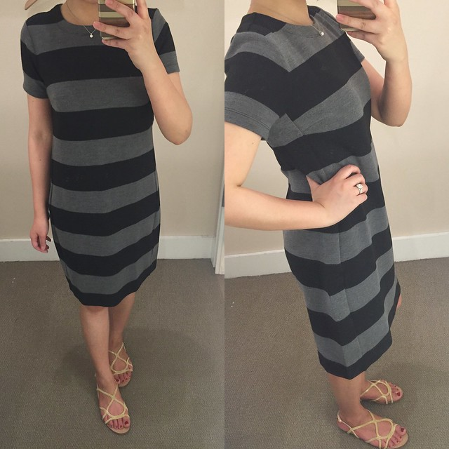 LOFT Striped Short Sleeve Dress, size XS regular