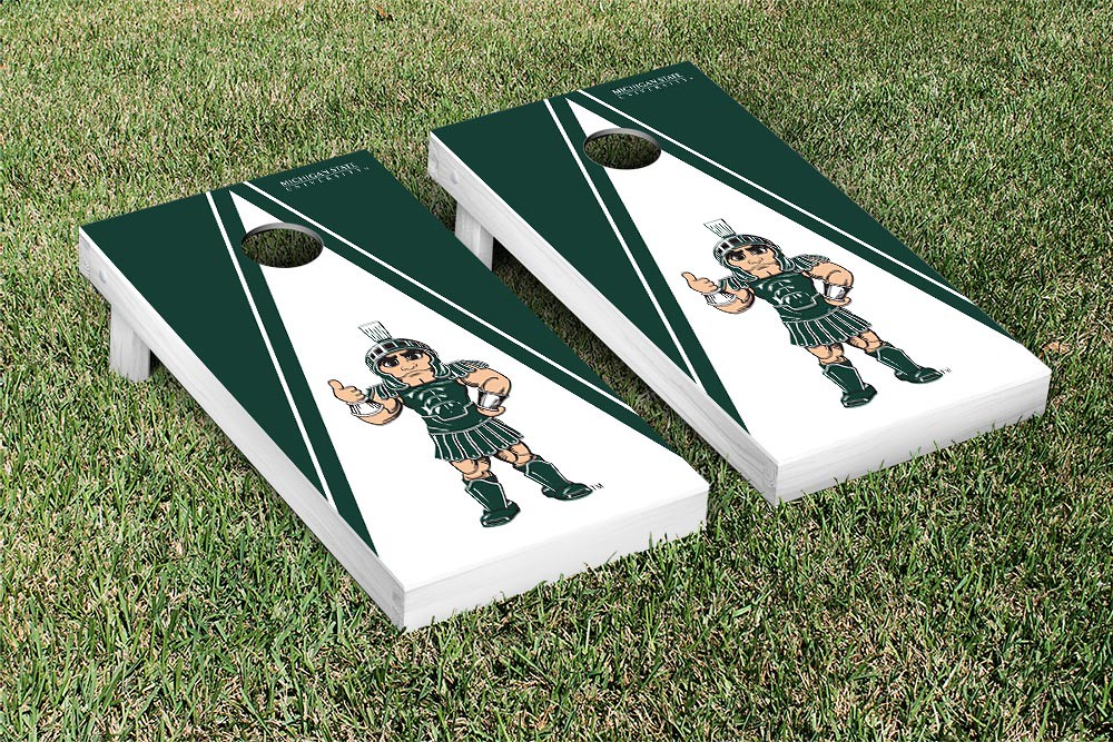 Michigan State Spartans Triangle Sparty version