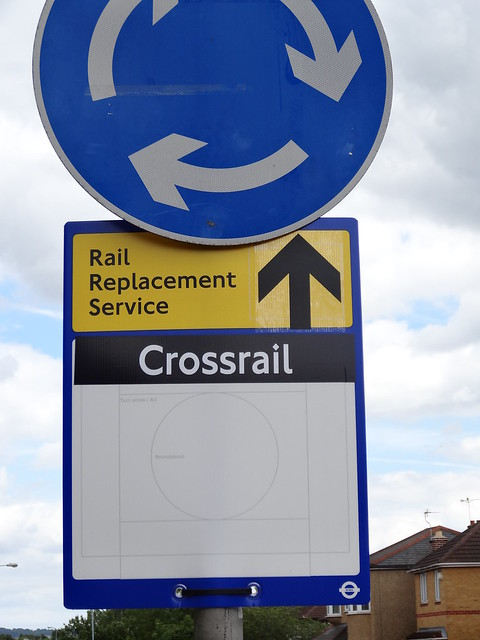 Walk 36 - Sign for Crossrail - TFL Rail
