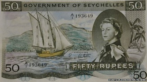 Seychelles 50 Rupees banknote