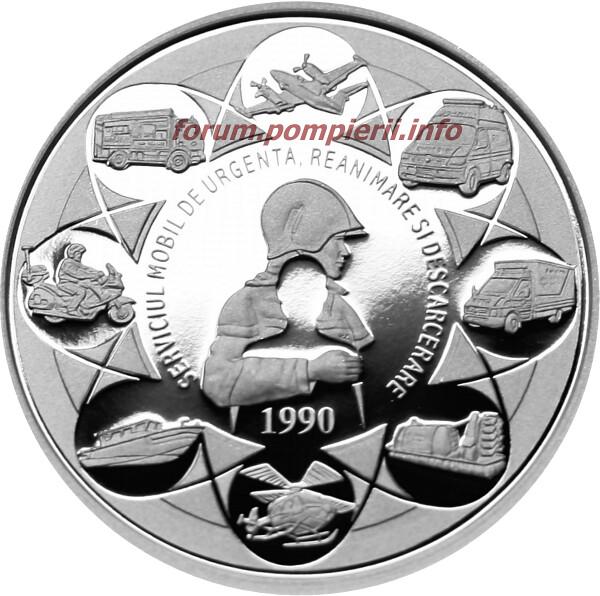Monedă Argint - 25 de ani de la înfiinţarea SMURD