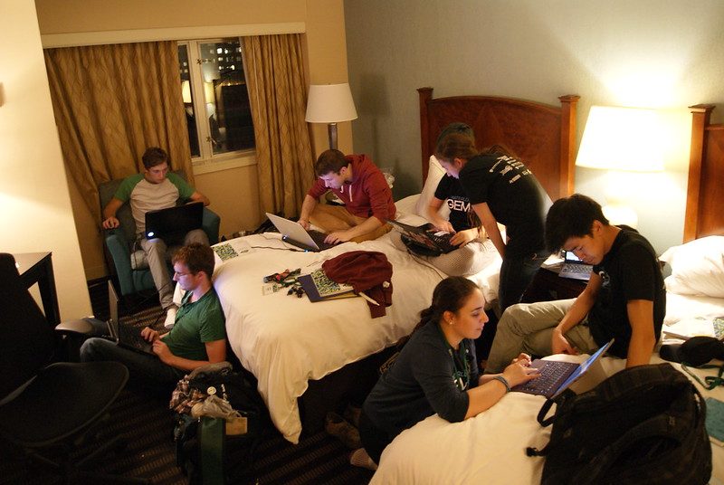 That hotel room when your slides aren't done the night before presentation