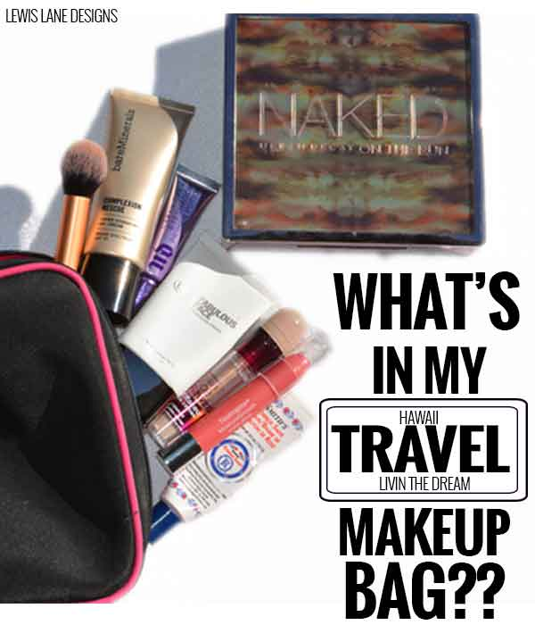 What's In My Travel Makeup Bag by Lewis Lane