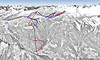 Mapa Tre Valli - Falcade