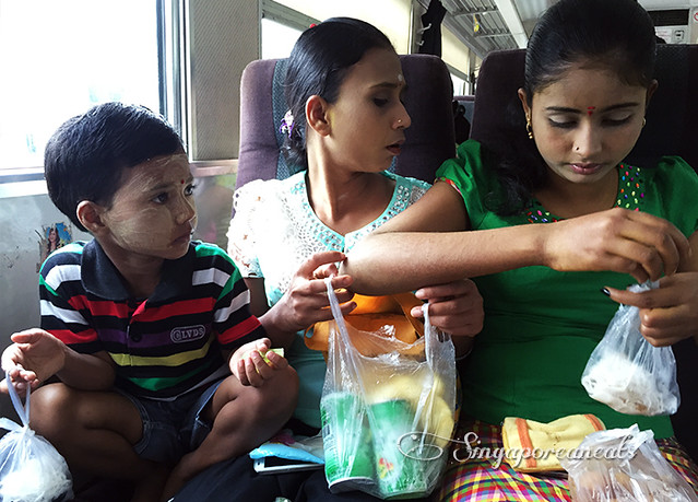 Yangon Circle Train 05 - Lots of snacking going on