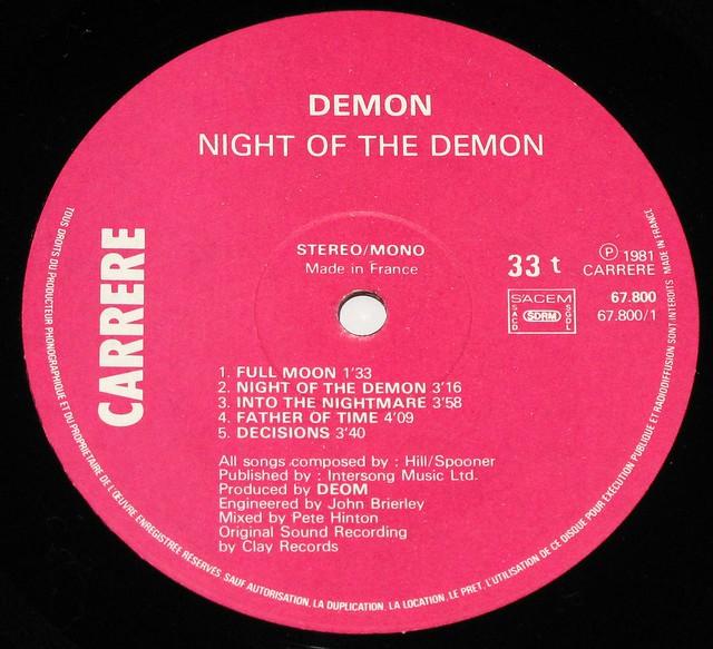 "DEMON NIGHT OF THE DEMON 12"" LP"