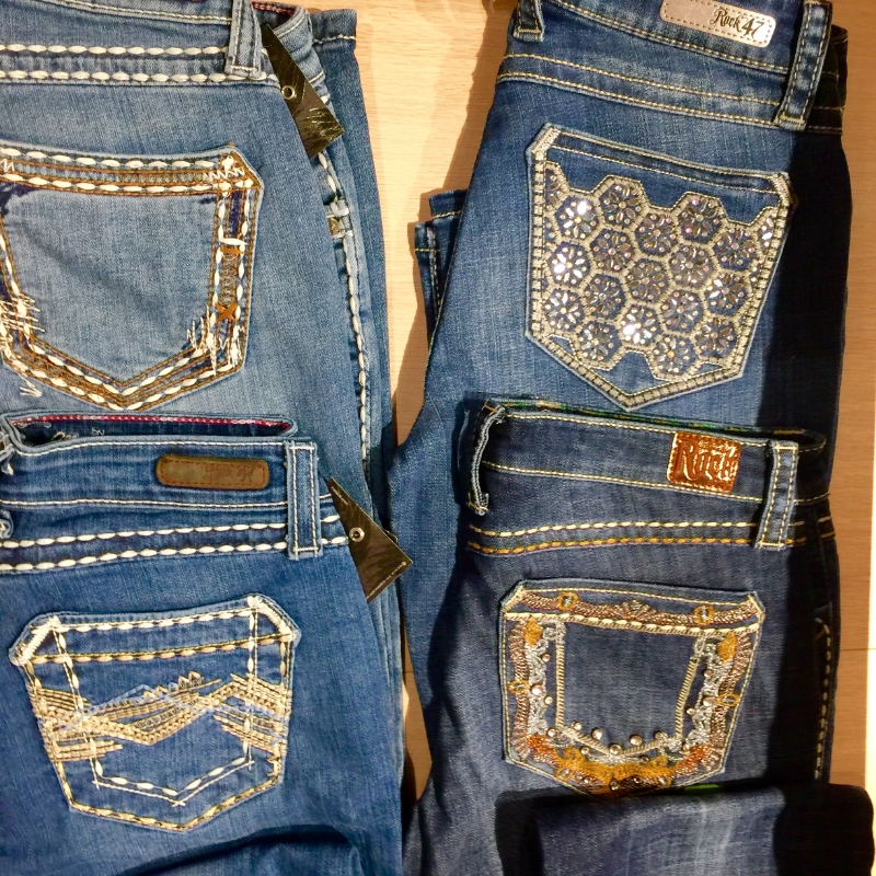 Wrangler Jean Back Pocket Jean Detail