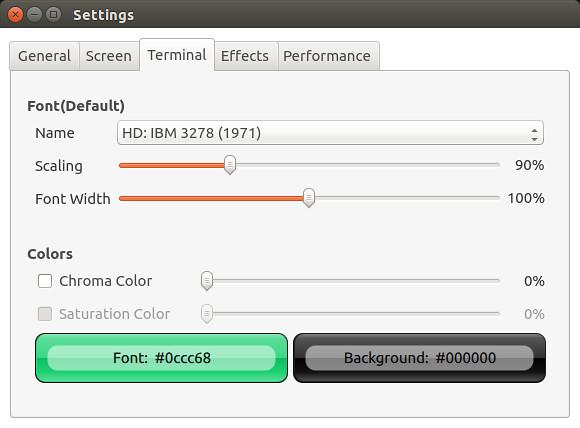 cool-retro-term - terminal settings