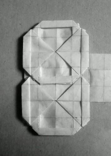Origami seven-segment display animation- Hadi Tahir