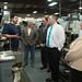 State Reps. Mike Bocchino, John Piscopo J.P. Sredzinski, and Jan Giegler listen during a tour of Noujaim Tool Co. Inc.