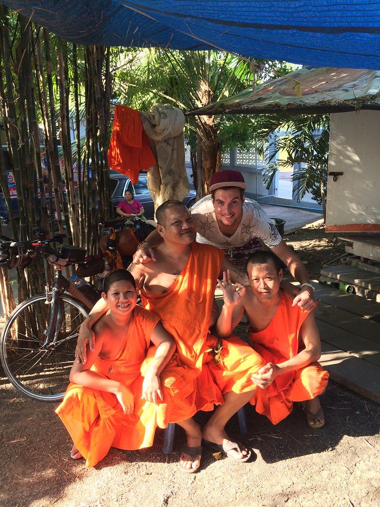 As a guest at monks in a temple in Thailand