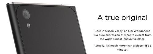 คำโฆษณาเรื่องดีไซน์ที่มีบนเว็บของ obi worldphone