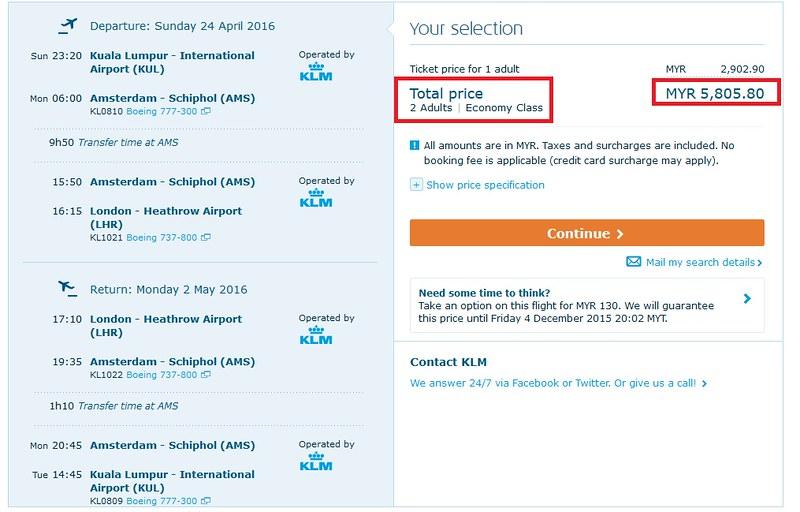 KLM-amsterdam offer