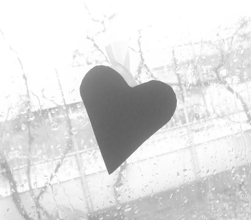 bw black window sadness mono day heart random rainy raindrops