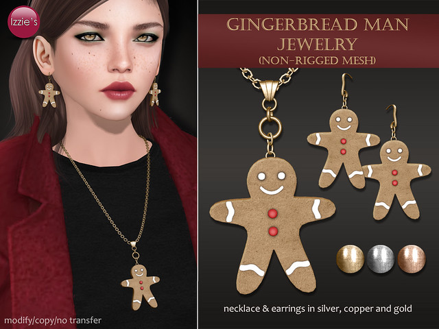 Gingerbread Man Jewelry (Christmas Gift)