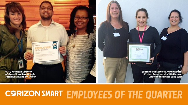 Corizon Health names first two SMART Employees of the Quarter