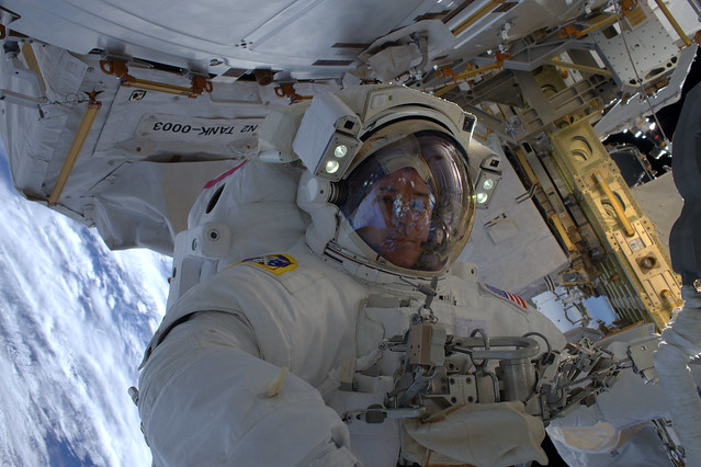 Shane during our spacewalk