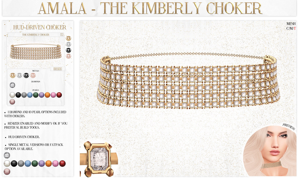 Amala - The Kimberly Choker for N21 - SecondLifeHub.com