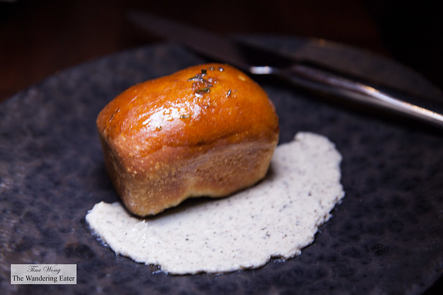 Truffled brioche and truffle butter