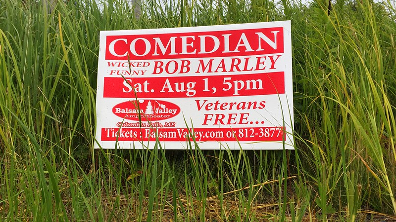 from the seen-on-a-run-in-downeast-maine dept: bob marley. wicked funny.