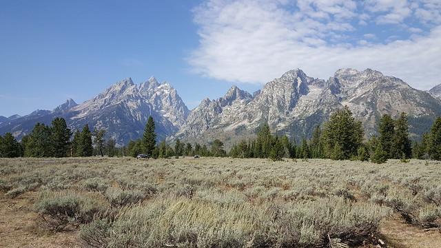 Jagged peaks of the Tetons