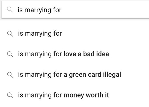 is marrying for