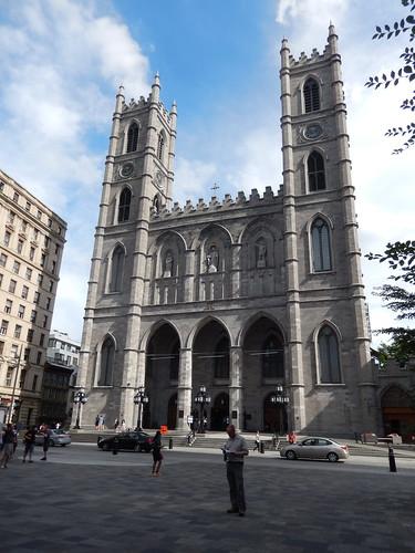 Montreal - kaart lezen bij Basilique Notre-Dame