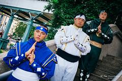 Blue, White, Green Ninjetti Ranger
