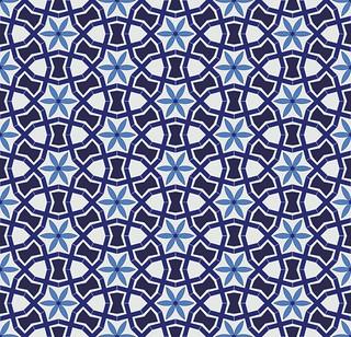 Design based on tile work from a Sufi shrine in Multan, Pakistan