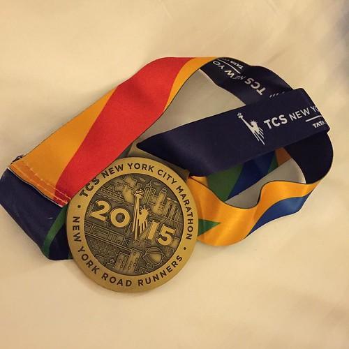 Den välförtjänta medaljen som jag jobbat så länge för att nå
