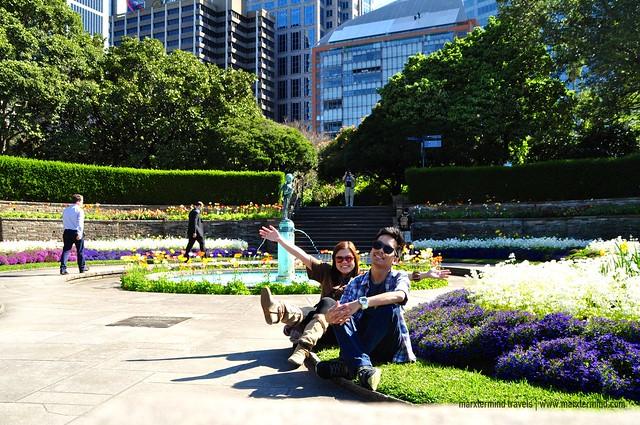 With Majoy at Royal Botanic Gardens Sydney