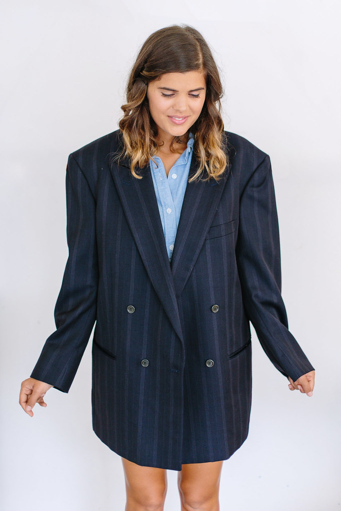 Before and After: Turn a Suit Jacket Into a Dress | A Pair & A Spare