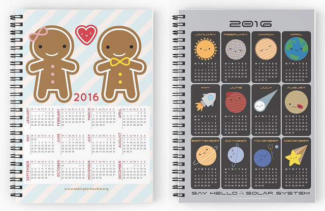 2016 Calendar Notebooks at Redbubble