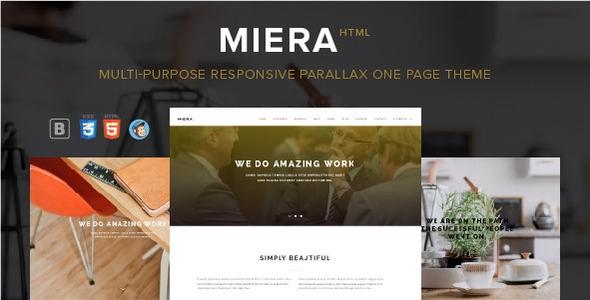 Themeforest MIERA v1.6 – Multi-Purpose Responsive Parallax One Page