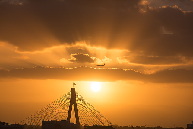 Sunset over Anzac Bridge