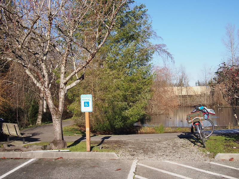 North Creek Trail: I didn't actually use it this time because I wanted the challenge of climbing over SE 164th St.