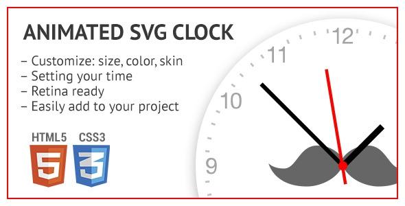 Codecanyon Animated SVG clock
